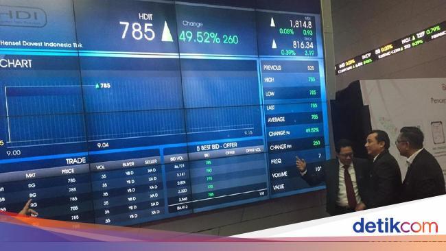 HDIT Debut Fintech Pertama di Pasar Modal, Sahamnya Langsung Auto Reject