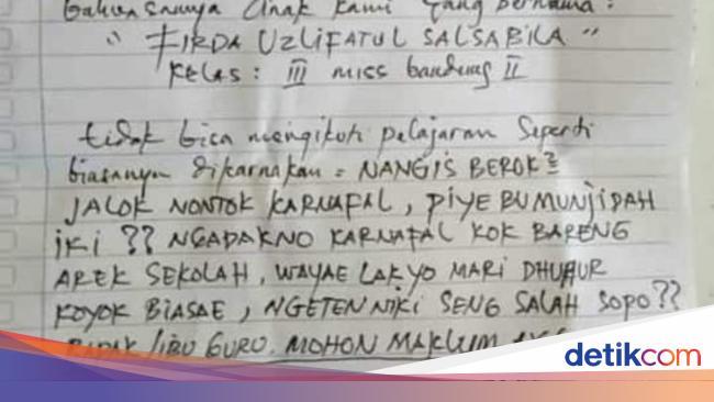 Viral Ortu Kirim Surat Ke Sekolah Agar Anaknya Bisa Nonton