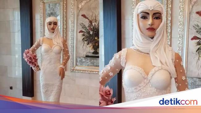 'Pengantin Hijab Seksi' Jadi Kue Pengantin Termahal Di Dunia