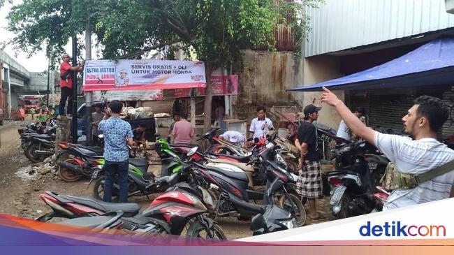 Honda Sediakan Servis Motor Gratis untuk Korban Banjir