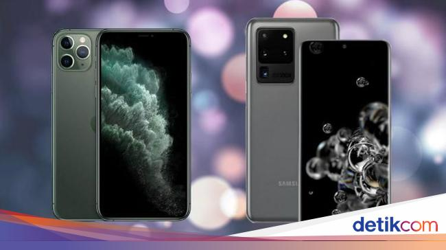 Perbandingan Galaxy S20 Ultra dan iPhone 11 Pro Ma