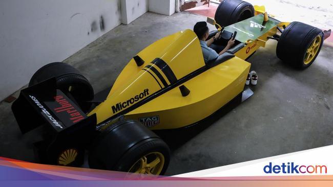 Modal Rp 32 Juta, Pria Ini Bikin Replika Mobil Formula 1