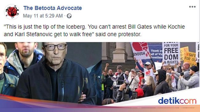 Beredar Gambar FBI Tangkap Bill Gates Atas Teror B