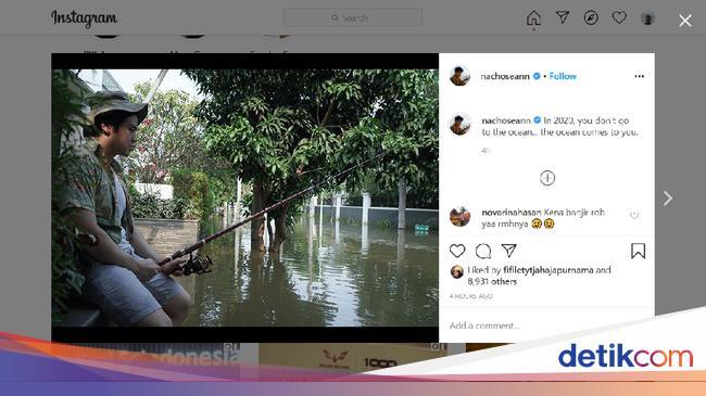 Pantai Mutiara Banjir, Anak Ahok Posting Mancing: