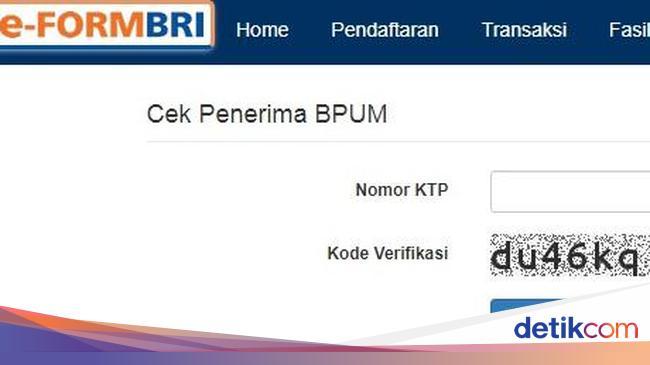 Sudah Login Eform Bri Co Id Untuk Cek Penerima Bantuan Umkm Rp 2 4 Juta
