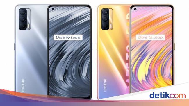 Image result for Smartphone Mid end Realme di Jaringan 5G Terjangkau