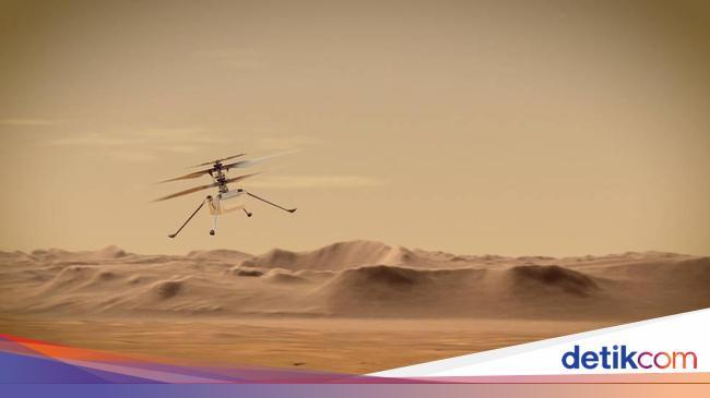 Helikopter NASA Akan Terbang Perdana di Mars Senin