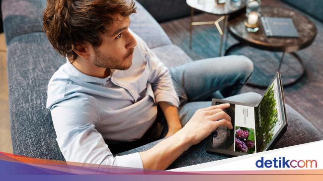 Penampakan Laptop Layar Lipat Harga Rp 60 Juta, Mi