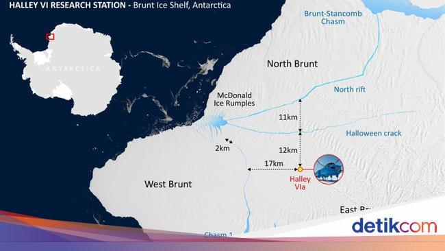 Detik-detik Gunung Es Antartika Seukuran 2 Kali Ja