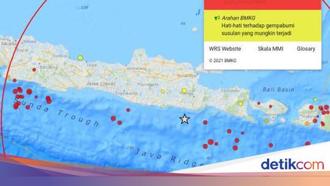 Gempa Blitar M 6 2 Mengguncang 6 7 Detik