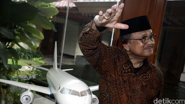 Presiden Indonesia ke-3 BJ Habibie/Foto: Hasan Alhabshy