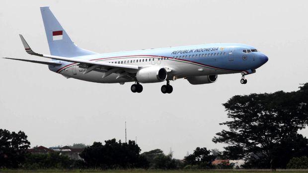Pesawat Kepresidenan Republik Indonesia telah tiba di Bandara Halim Perdanakusumah, Jakarta Timur. Pesawat Boeing Bussines Jet (BBJ)-2 yang  dibuat pada 2013 seharga US$ 91,2 Juta.