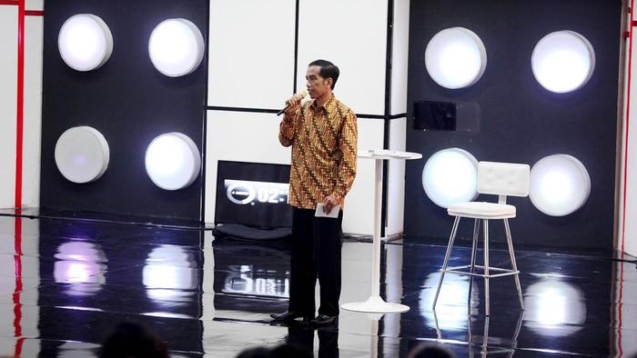 Jokowi saat Debat Capres 2014. (Rengga Sancaya/detikcom)