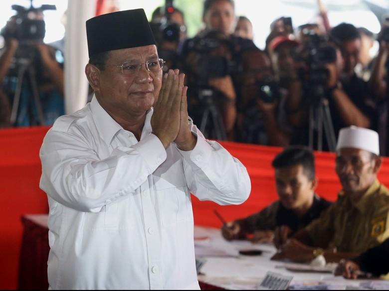 Tepis LSI, Timses: Elektabilitas Prabowo Naik di Survei Internal