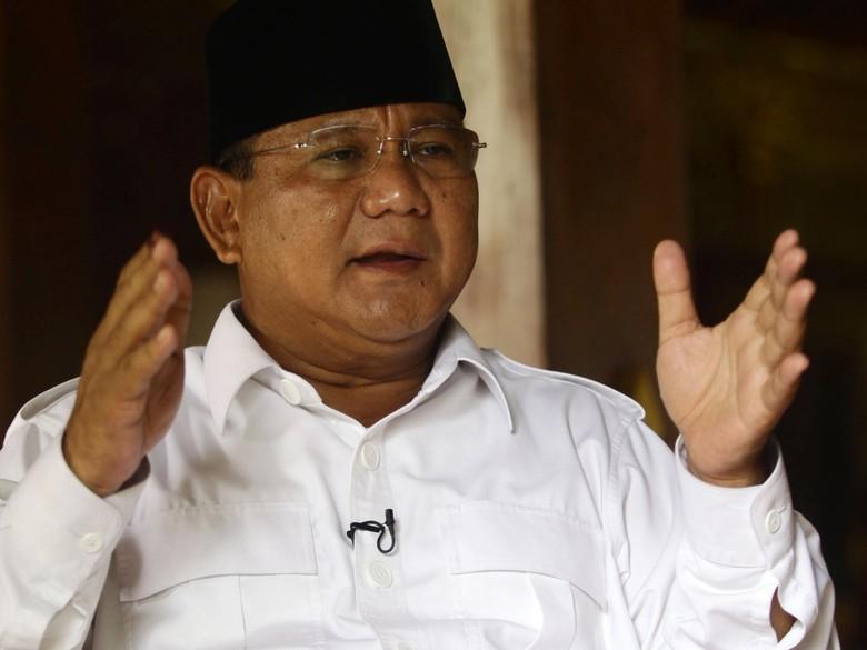Gantikan Revolusi Putih, Prabowo akan Usung Generasi Emas