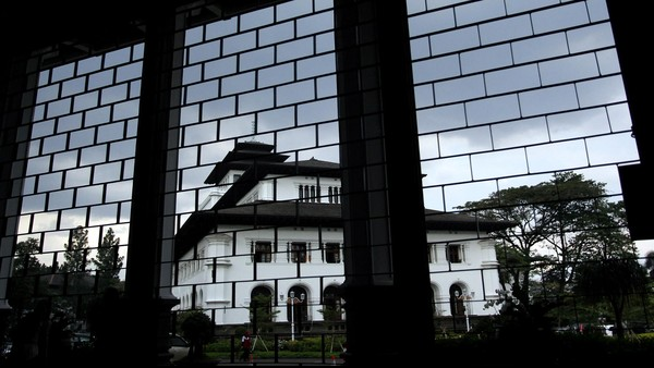 Gedung yang diarsiteki oleh J. Gerber ini diketahui terinspirasi dari bangunan di Zaman Renaissance. Rengga Sancaya/Dok. Detikcom.