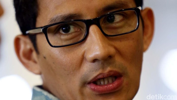 Pengusaha dan Ketua Umum Pengurus Besar Persatuan Renang Seluruh Indonesia (PB PRSI), Sandiaga Uno. File/detikFoto.