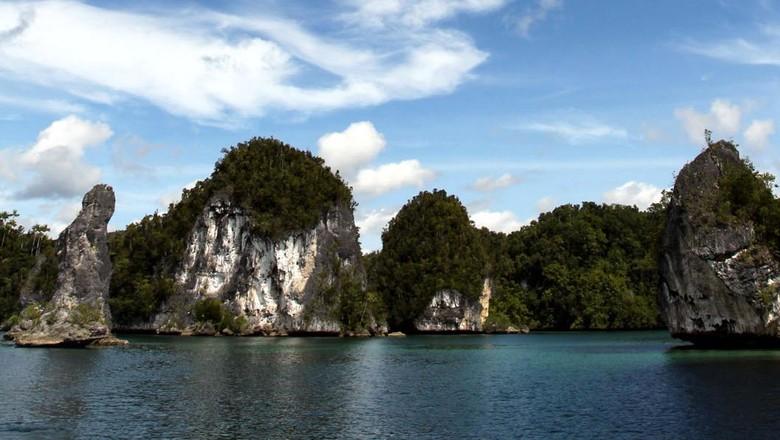 Kepulauan Raja Ampat di Papua Barat menyimpan sejuta pesona. Pemandangan alam ratusan pulau yang tersebar serta keindahan bawah lautnya menjadi idola wisatawan. File/detikFoto.