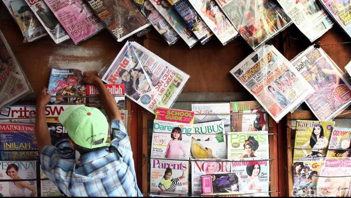 Lapak Penjual Koran di daerah Pancoran, Jakarta Selatan. File/detikFoto.