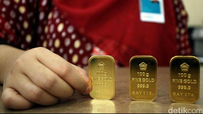 Emas Antam Dijual Rp 670000gram