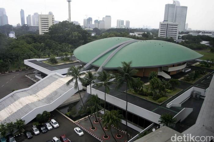 gedung MPR/DPR RI di Jalan Gatot Soebroto, Senayan, Jakarta.