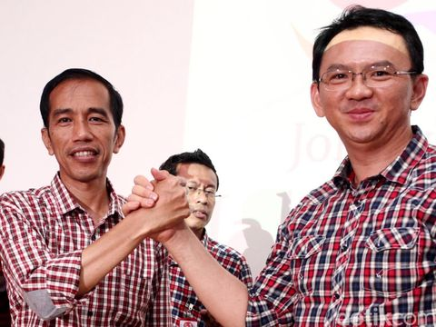 Jokowi dan Ahok saat Pilgub DKI 2012.