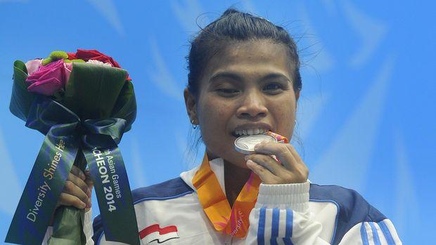 Sri Wahyuni menyumbang medali perunggu pada Asian Games 2014.