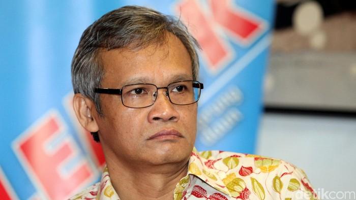 DPR RI Fraksi PDI Perjuangan, Aria Bima saat di acara diskusi mengenai Polemik Drama Paripurna, di Jakarta, Sabtu (27/09).