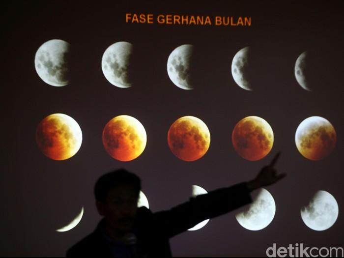 Ilustrasi fase gerhana bulan. (Foto: Agung Pambudhy)