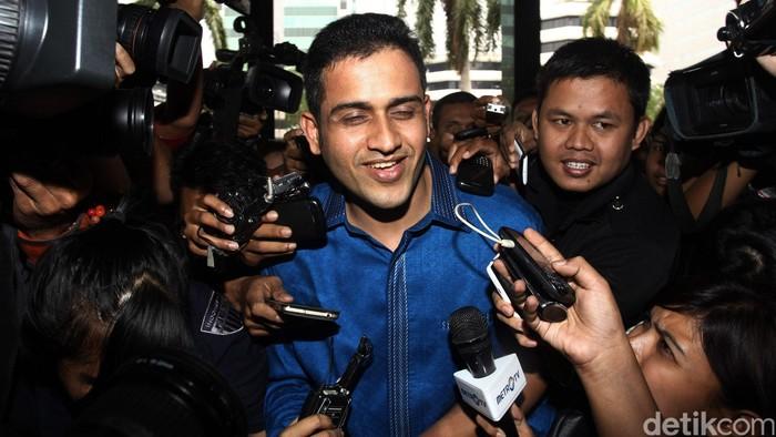 Terpidana kasus Wisma Atlit Nazarudin kembali  menjalani pemeriksaan di KPK, Jakarta, Rabu (08/10/2014). Nazar kembali diperiksa KPK terkait korupsi Wisma Atlit Hambalang, Sentul, Bogor, dengan tersangka Mahfud Suroso.