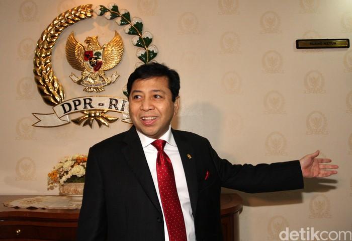 Setya Novanto adalah Ketua DPR RI periode 2014 - 2019. Ia juga merupakan anggota DPR RI periode 1999 - 2004, 2004-2009, 2009-2014 dan 2014-2019 dari Golkar dari dapil Nusa Tenggara Timur Dua, yang meliputi wilayah Pulau Timor, Rote, Sabu, dan Sumba. Ia juga menjabat sebagai Ketua Fraksi Golkar periode 2009-2014.