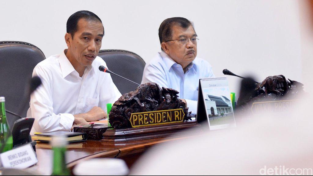 Jokowi-JK Bahas Soal APBN di Sidang Kabinet Paripurna