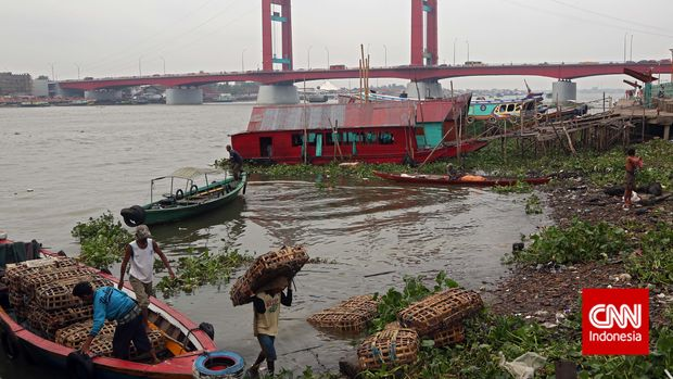 Sungai Musi, Palembang, Sumsel.