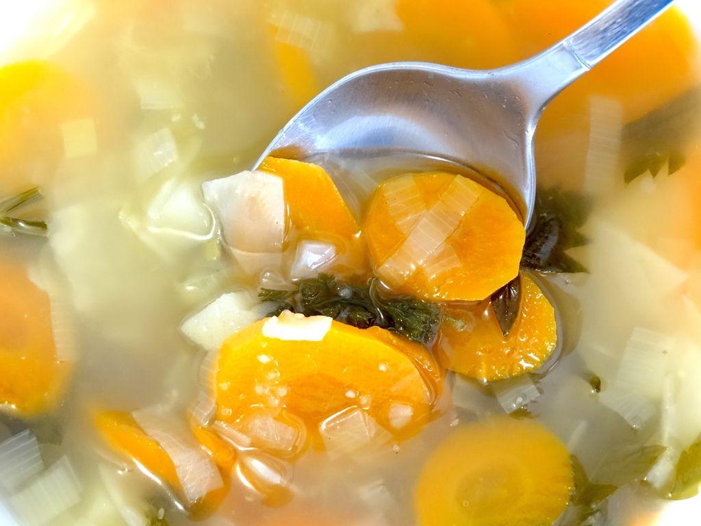 Ilustrasi sup sayur