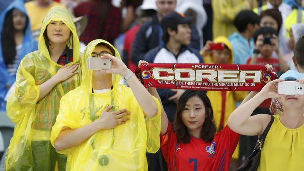 Ilustrasi pendukung timnas Korea Selatan.