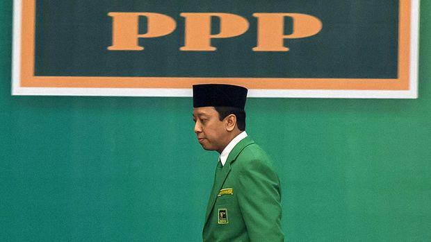 Mantan Ketum PPP Romahurmuziy menjadi tersangka kasus jual beli jabatan di Kemenag.