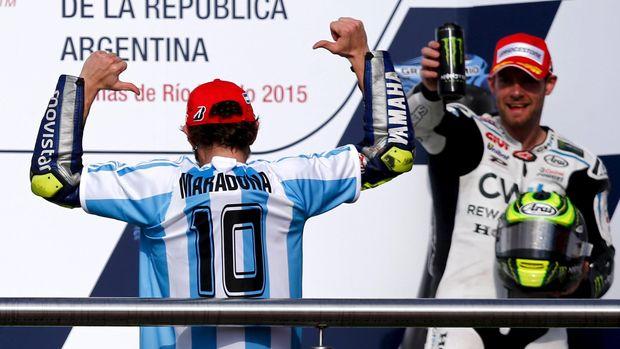Valentino Rossi meraih kemenangan di MotoGP Argentina 2015.