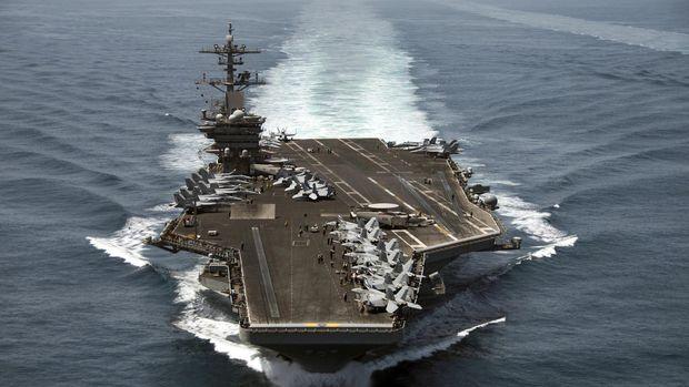 Kapal induk USS Theodore Roosevelt dikerahkan untuk membantu operasi di Suriah.