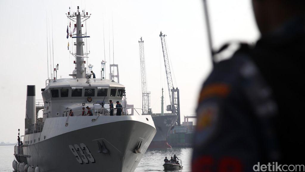 KRI Rigel Dikerahkan Cari Titik Magnet Petunjuk Kapal Selam Hilang