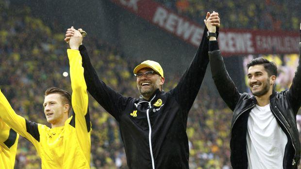 Jurgen Klopp mengilap bersama Borussia Dortmund.