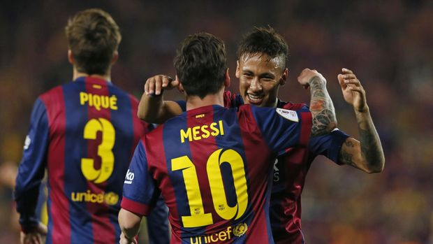 Lionel Messi sudah berjanji kepada Neymar untuk bertemu di final Liga Champions.