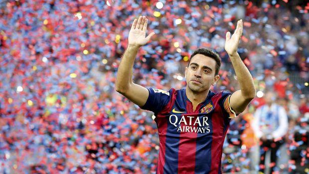 Xavi meninggalkan Barcelona pada 2015.
