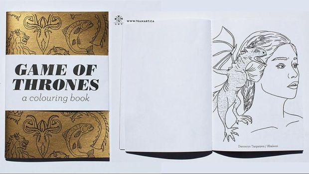 'Game of Thrones' bahkan dibuat buku mewarnai.