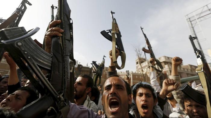 pemberontak Houthi di Yaman (Foto: Khaled Abdullah/REUTERS)