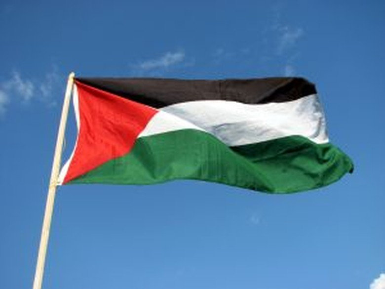 Hasil gambar untuk bendera palestina meledak