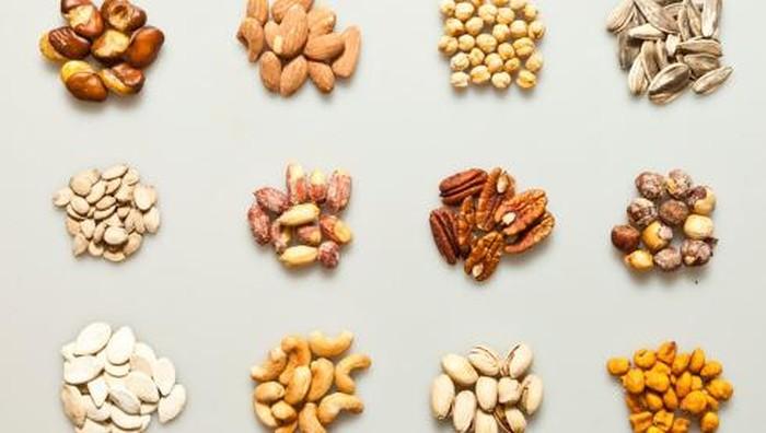 Ilustrasi kacang-kacangan dan biji-bijian. Foto: thinkstock