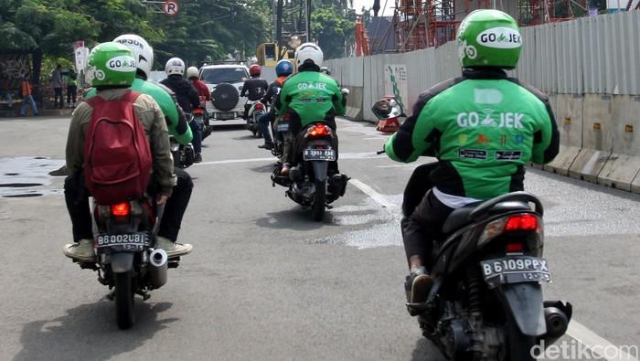 Driver Go-Jek. Foto: Lamhot Aritonang