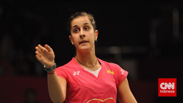 Carolina Marin cedera di final Indonesia Masters 2019.
