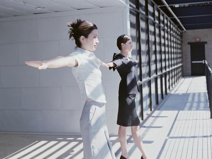 Olahraga di kantor bisa buat tubuh ramping. Foto: Thinkstock