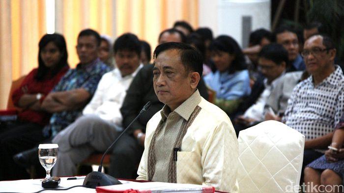 Hendardji Soepandji mencalonkan diri sebagai ketua umum KONI (Agung Pambudhy/detikSport)